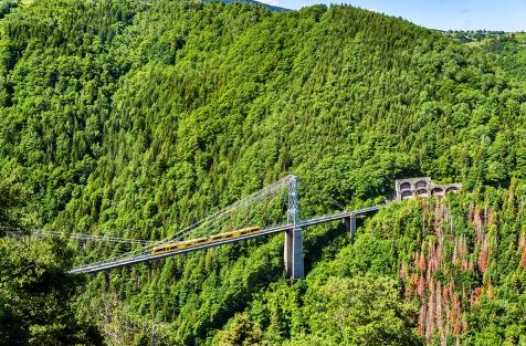 Yellow Train Pyrenees, natural park shutterstock_318580952