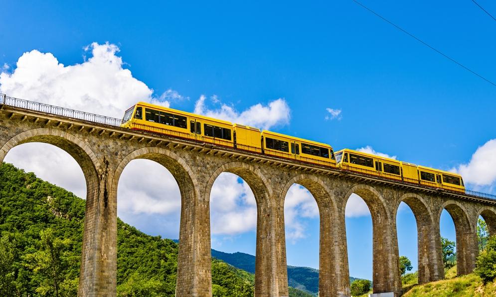 Yellow Train Pyrenees shutterstock_318580949
